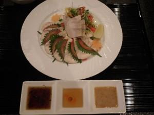 鶏ハム3種のタレ