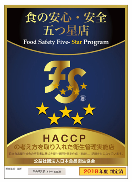 HACCP認定書